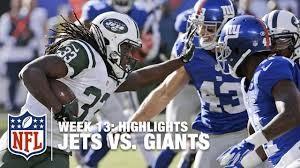 Jets vs Giants 11/10/19